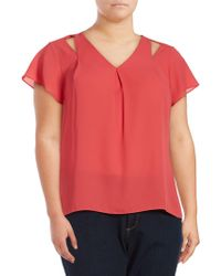 CALVIN KLEIN 205W39NYC - Solid V-neck Top - Lyst