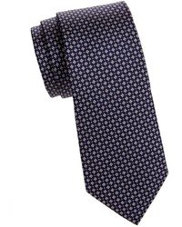 Saks Fifth Avenue - Micro Neat Graphic Silk Tie - Lyst
