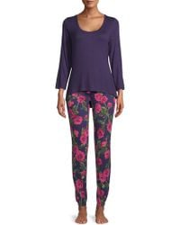 Betsey Johnson - Two-piece Lace Heart & Floral Pyjama Set - Lyst