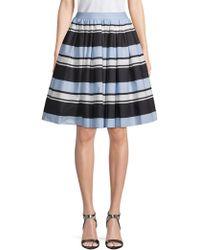 Dolce & Gabbana - Striped Cotton Skirt - Lyst