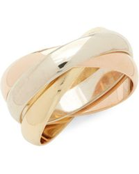 Estate Fine Jewelry - Cartier Vintage18k Gold Multi-row Band Ring - Lyst