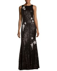 THEIA - Sequined Star Mermaid Gown - Lyst