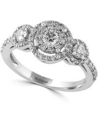 Effy - Bouquet 14k White Gold & Diamond Ring - Lyst