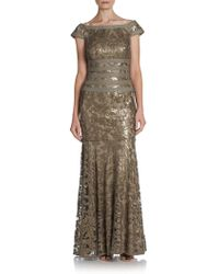 Tadashi Shoji - Sequined Lace Gown - Lyst