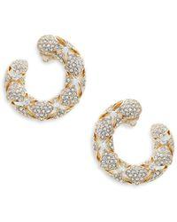 Adriana Orsini - Naga Goldtone Crystal Hoop Earrings - Lyst