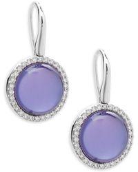 Roberto Coin - Pearl, Diamond, Amethyst And 18k White Gold Fantasia Triplet Earrings - Lyst