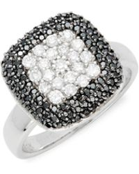 Effy - Black Diamond & 14k White Gold Solid Fill Solitaire Ring - Lyst