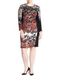 Stizzoli - Bodycon Floral Dress - Lyst
