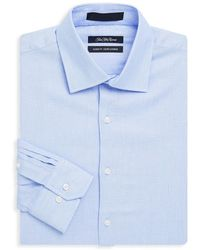 Saks Fifth Avenue - Classic-fit Textured Dress Shirt - Lyst