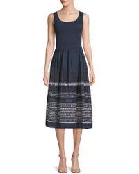 Max Studio - Patterned Jacquard Dress - Lyst