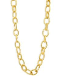 Freida Rothman - Textured Heavy Link Necklace - Lyst