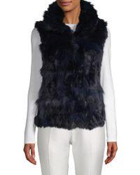 Adrienne Landau - Dyed Fox And Rabbit Fur Vest - Lyst