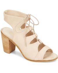 Catherine Malandrino - Lace-up Faux Suede Sandals - Lyst