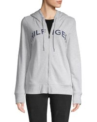 Tommy Hilfiger - Logo Hooded Sweatshirt - Lyst