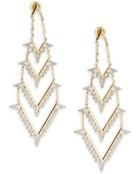 Noir Jewelry - White Opal Drop Earrings - Lyst