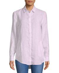 Saks Fifth Avenue - Linen Button-down Shirt - Lyst