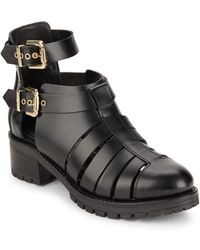 Chiara Ferragni - Cutout Combat Ankle Strap Boots - Lyst