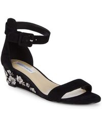 Saks Fifth Avenue - Katy Floral Wedge Sandals - Lyst