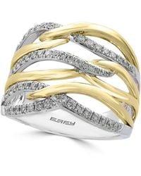 Effy - Diamond, 14k Yellow And White Gold Ring, 0.41 Tcw - Lyst