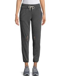 Betsey Johnson - Distressed Joggers - Lyst