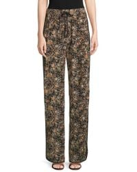 Adam Lippes - Silk Floral Lounge Trousers - Lyst