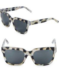 3.1 Phillip Lim - 52mm Square Cheetah Sunglasses - Lyst