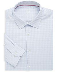 Bugatchi - Cotton Houndstooth Dress Shirt - Lyst