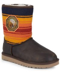 UGG - Short Grand Canyon Wool Stripe Boots - Lyst