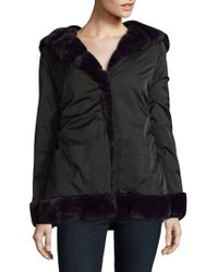 Laundry by Shelli Segal - Faux Fur Linded Hooded Coat - Lyst