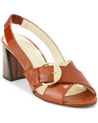 Bettye Muller - Pepper Patent Leather Slingback Sandals - Lyst
