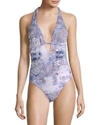 Eberjey - One-piece Gitana Gabrielle Paisley Swimsuit - Lyst