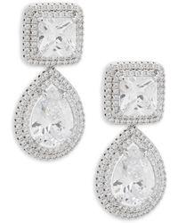 Saks Fifth Avenue - Crystal Drop Earrings - Lyst