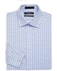 Saks Fifth Avenue - Windowpane Cotton Dress Shirt - Lyst