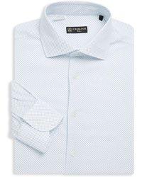 Corneliani - Dot-print Cotton Dress Shirt - Lyst