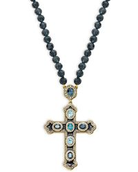 Heidi Daus - Crystal Long Cross Pendant Necklace - Lyst