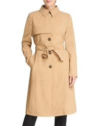 Donna Karan - Long Button Trench Coat - Lyst