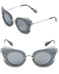 Miu Miu - 63mm Round Aviator Sunglasses - Lyst