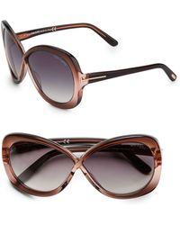 Tom Ford - Margot Oversized Two-tone Sunglasses - Lyst