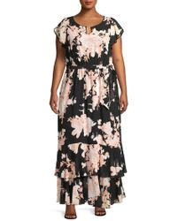 4f17de924df Lyst - INC International Concepts Petite Floral-embroidered Maxi ...