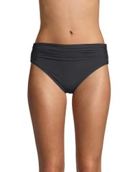 Carmen Marc Valvo - Classic Shirred Bikini Bottom - Lyst