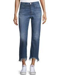 3x1 - Austin Cropped Cotton Jeans - Lyst