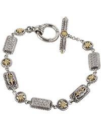 Konstantino - Asteri White Diamond, Crystal And Sterling Silver Bracelet - Lyst