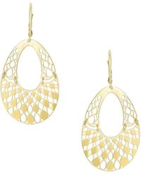 Saks Fifth Avenue - 14k Yellow Gold Cut-out Drop Earrings - Lyst