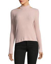 Ella Moss - Long-sleeve Turtleneck Sweatshirt - Lyst