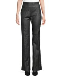 Narciso Rodriguez - Lk1 Straight Leather Trousers - Lyst
