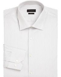 Saks Fifth Avenue - Striped Dress Shirt - Lyst