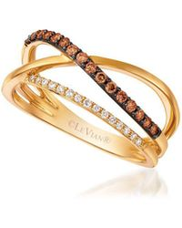 Le Vian - Chocolatier Intertwining Chocolate & Vanilla Ring - Lyst