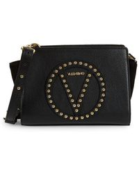 Valentino By Mario Valentino - Leather Logo Convertible Clutch - Lyst