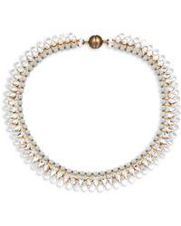 Tataborello - Crystal Studded Choker Necklace - Lyst