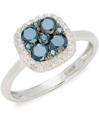 Effy - Diamond & 14k White Gold Solid Fill Solitaire Ring - Lyst
